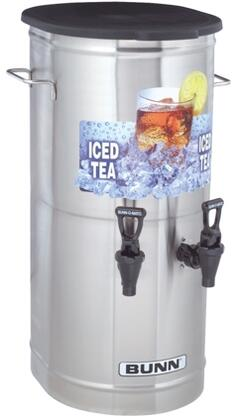37750.0002 TCD-2 Tea Concentrate Dispenser With 2 Nozzle  Solid Lid  Side Off-Set Handles  Built-in Pressure Regulator  in