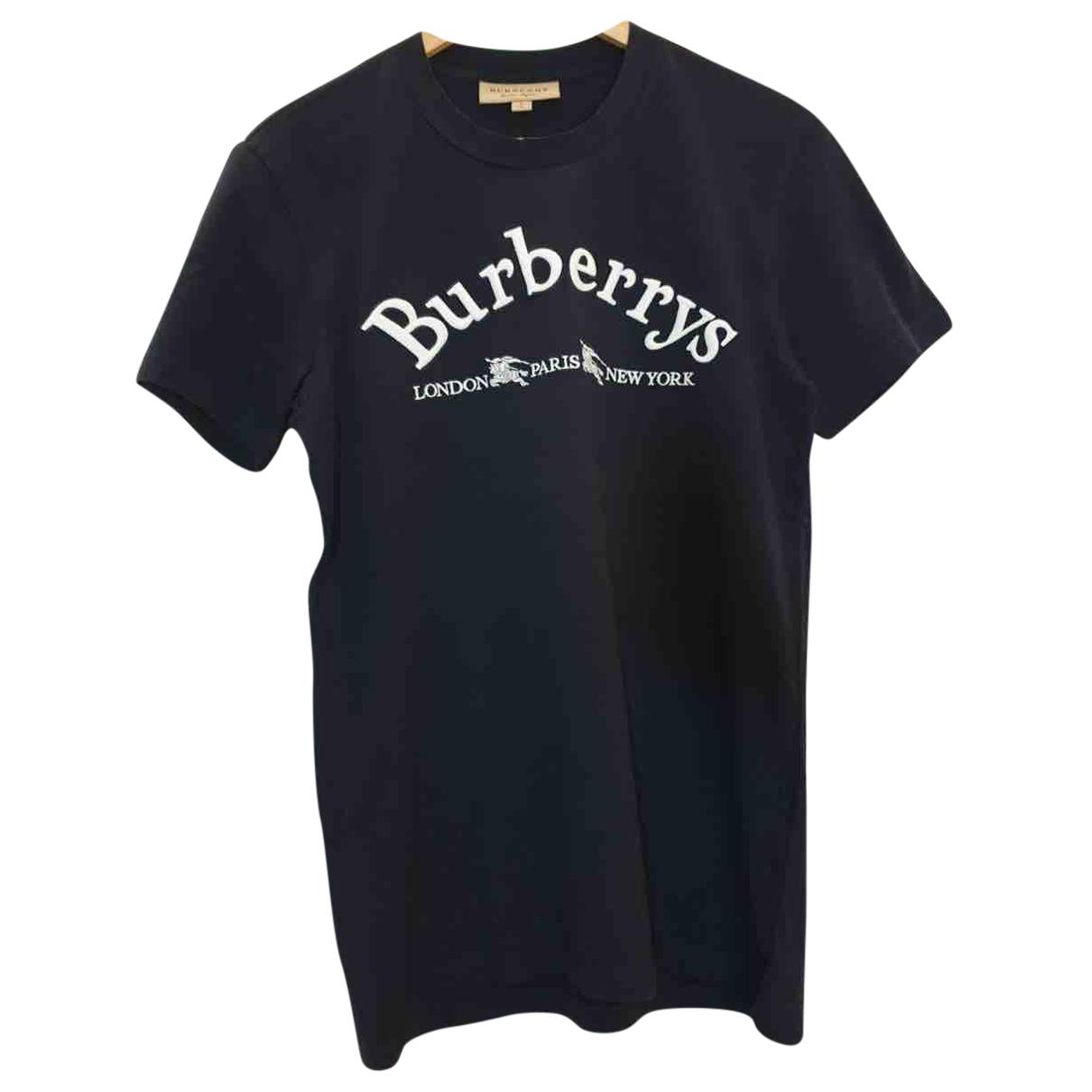 Burberry - Tee shirts   pour homme en coton - bleu
