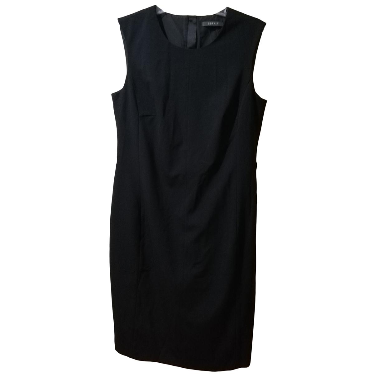 Esprit \N Kleid in  Schwarz Wolle