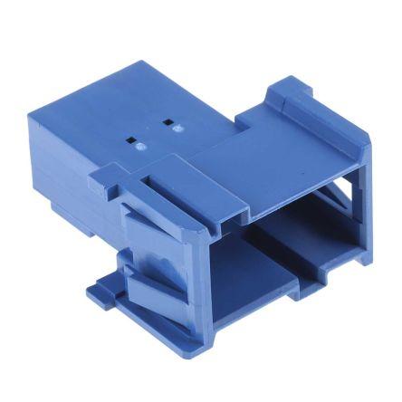 TE Connectivity , AMP MCP 2.8 Automotive Connector Plug 3 Row 6 Way, Blue (5)