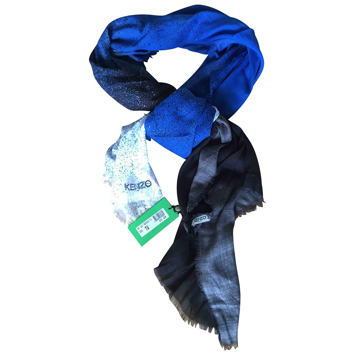 Kenzo N Blue Silk scarf for Women N