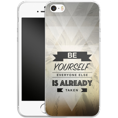 Apple iPhone 5s Silikon Handyhuelle - Be Yourself von Statements