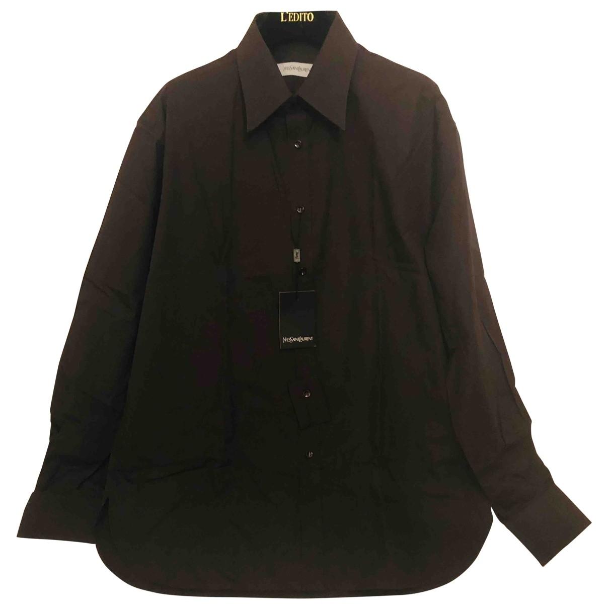 Yves Saint Laurent - Chemises   pour homme en coton - noir