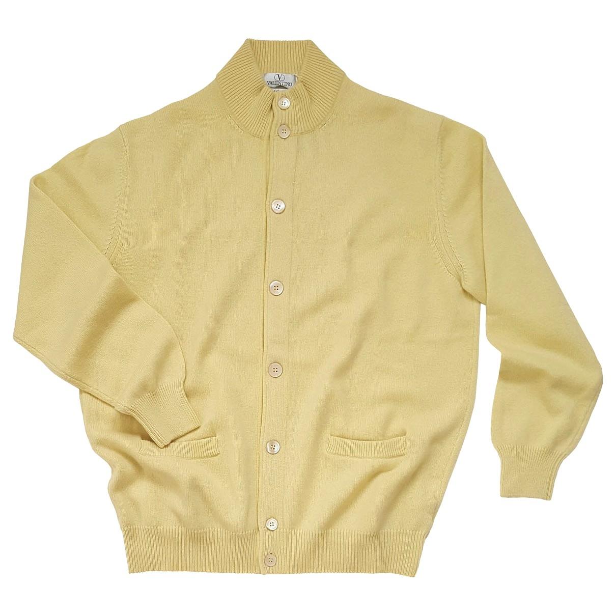 Valentino Garavani \N Pullover.Westen.Sweatshirts  in  Gelb Kaschmir