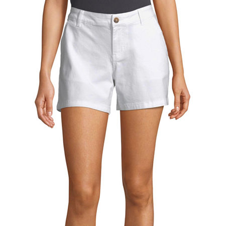 a.n.a Womens 5'' Chino Short, 8 , White
