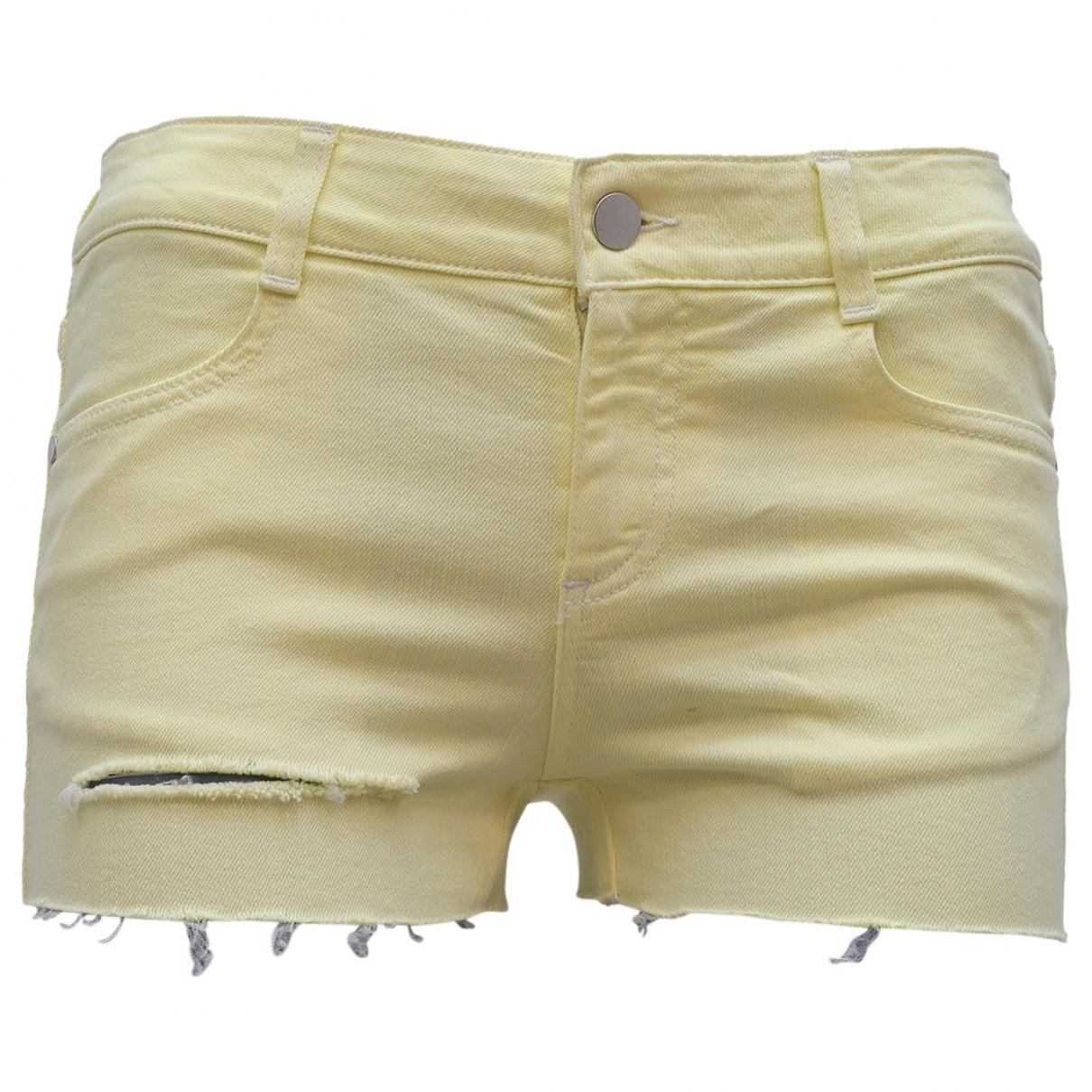 Stella Mccartney \N Shorts in  Gelb Baumwolle - Elasthan