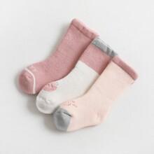 3 pares calcetines de bebe con dibujos animados