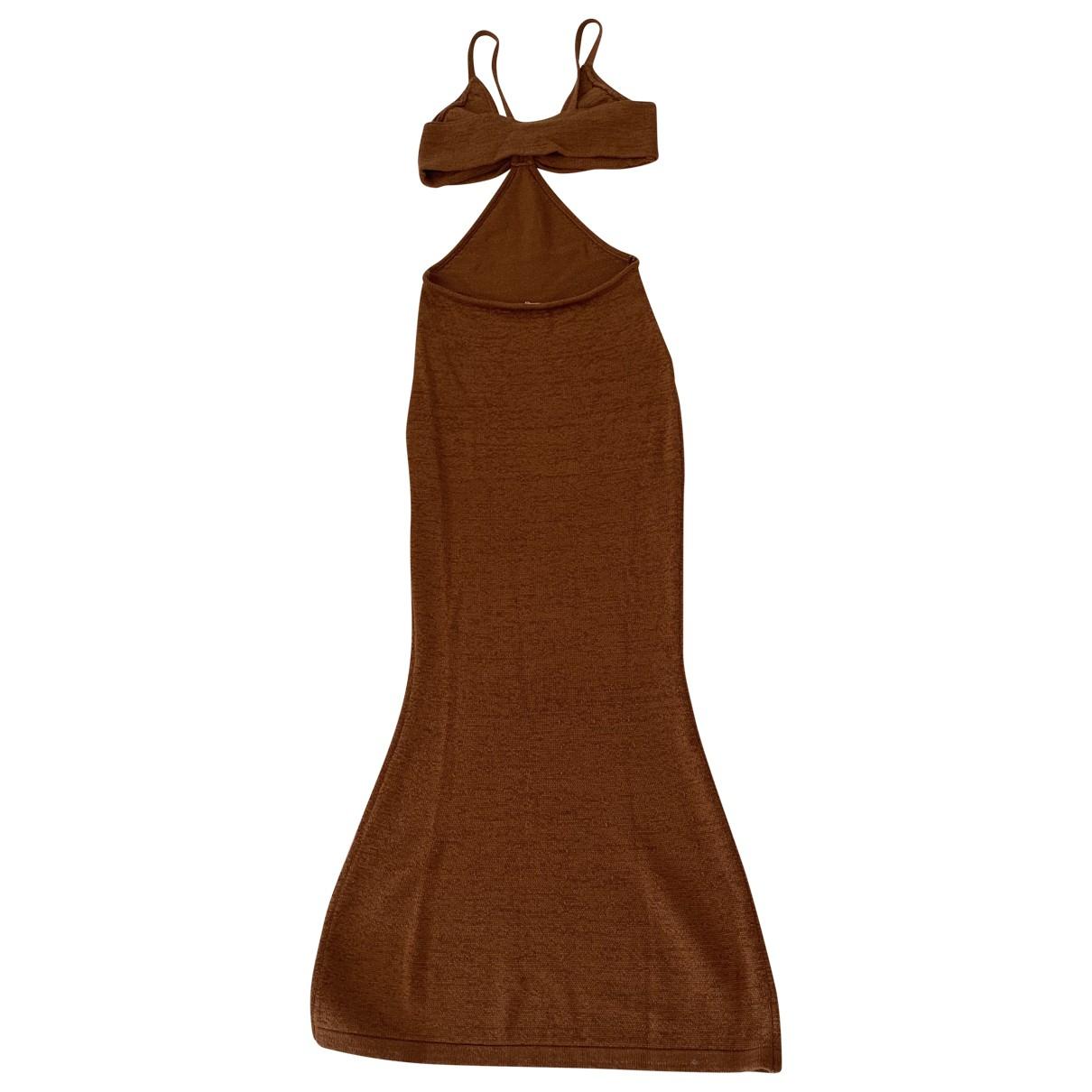Cult Gaia \N Kleid in  Braun Baumwolle