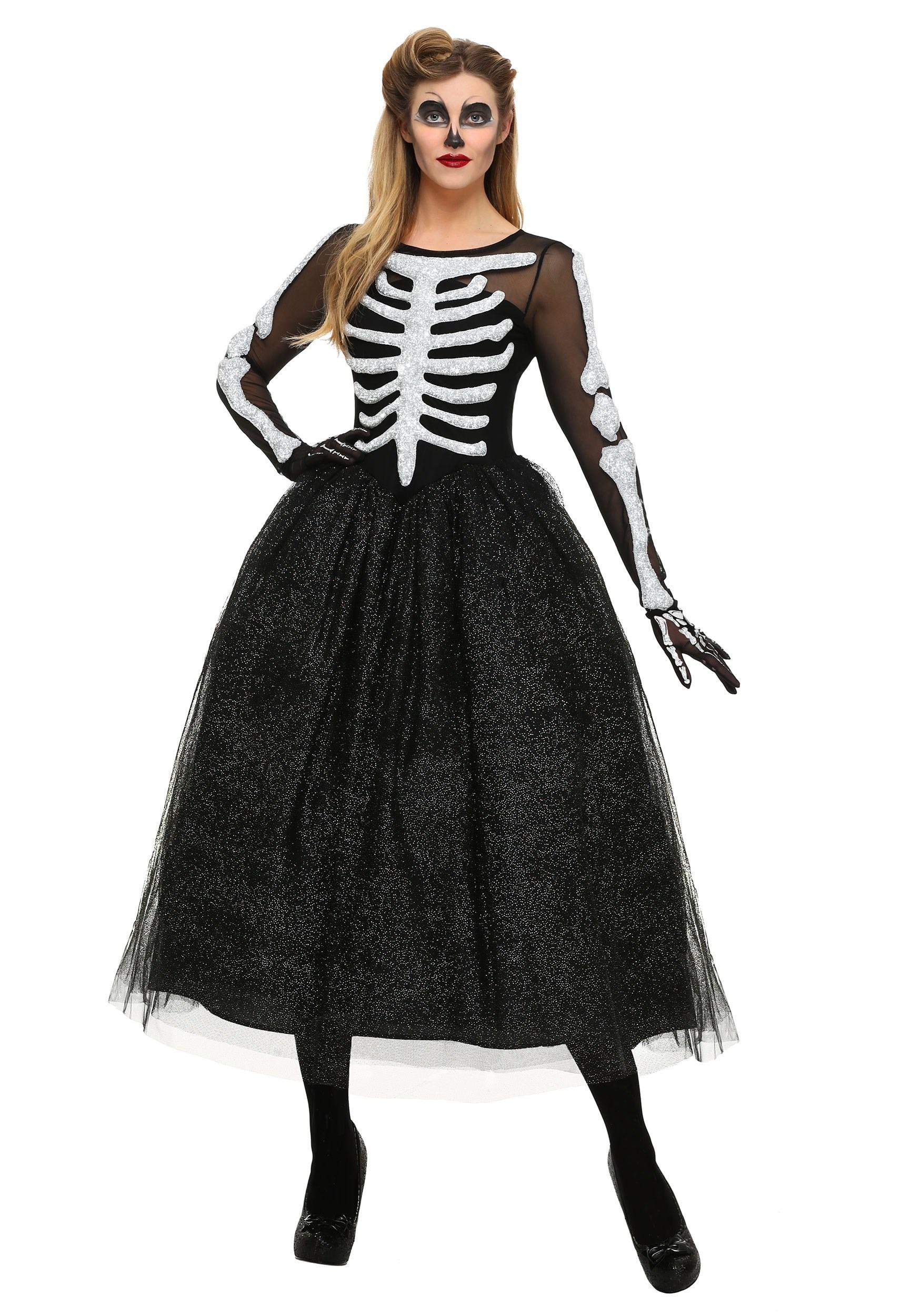 Womens Skeleton Beauty Costume