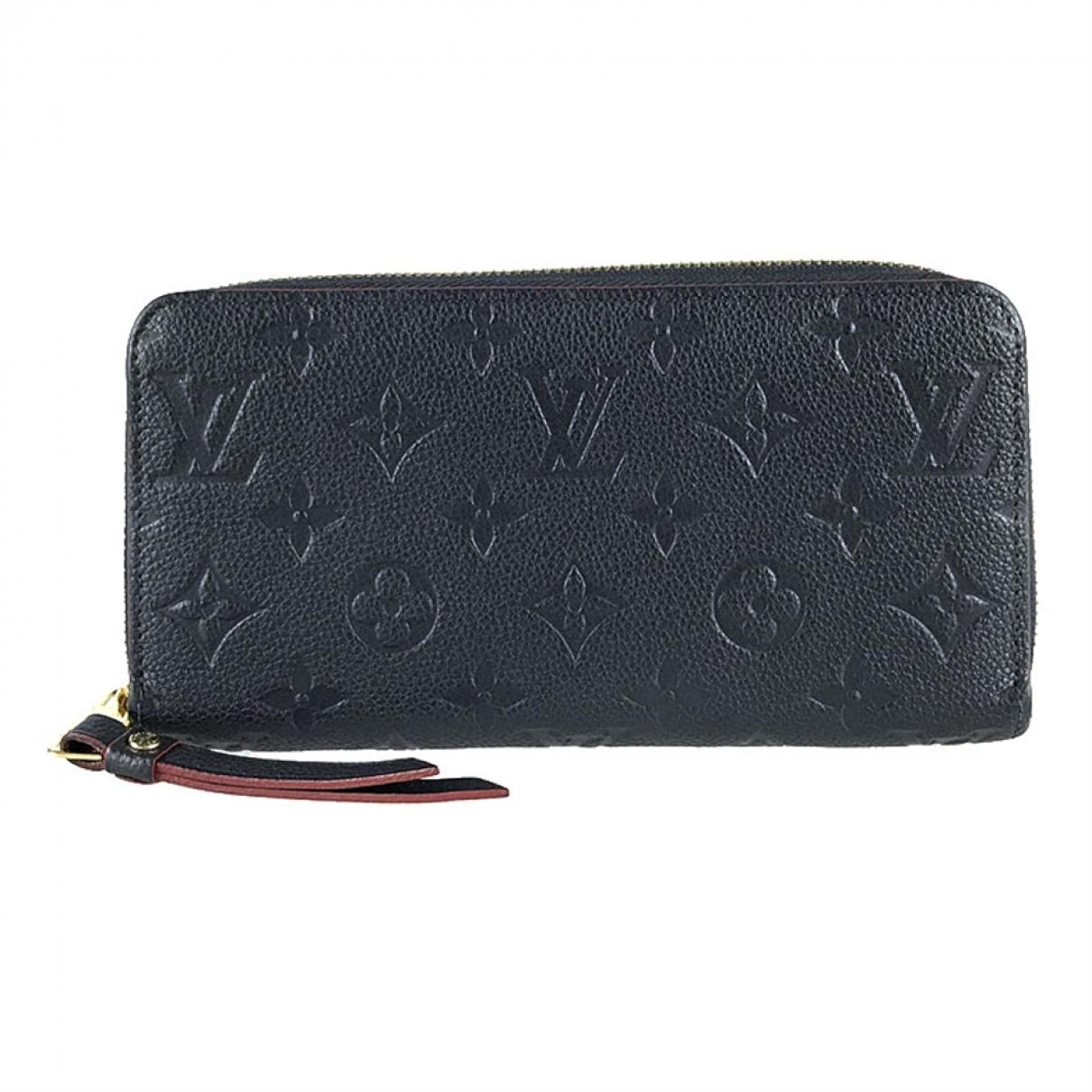 Louis Vuitton Zippy Portemonnaie in  Marine Leder