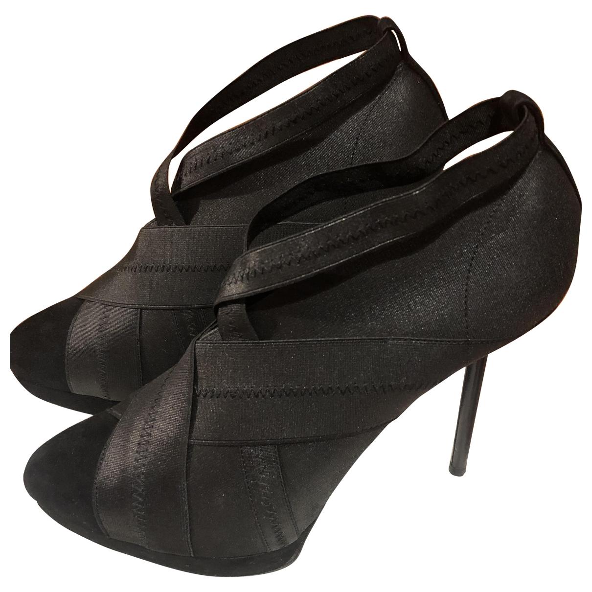 Yves Saint Laurent - Boots   pour femme en toile - noir
