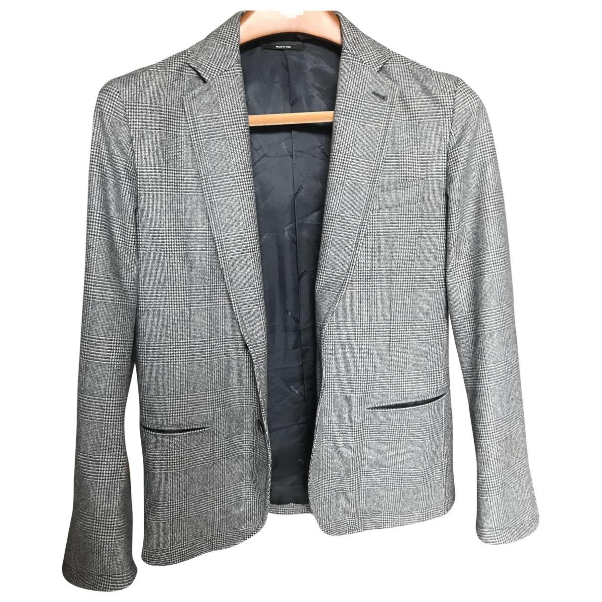 Hermès \N Grey Wool jacket  for Men 46 FR