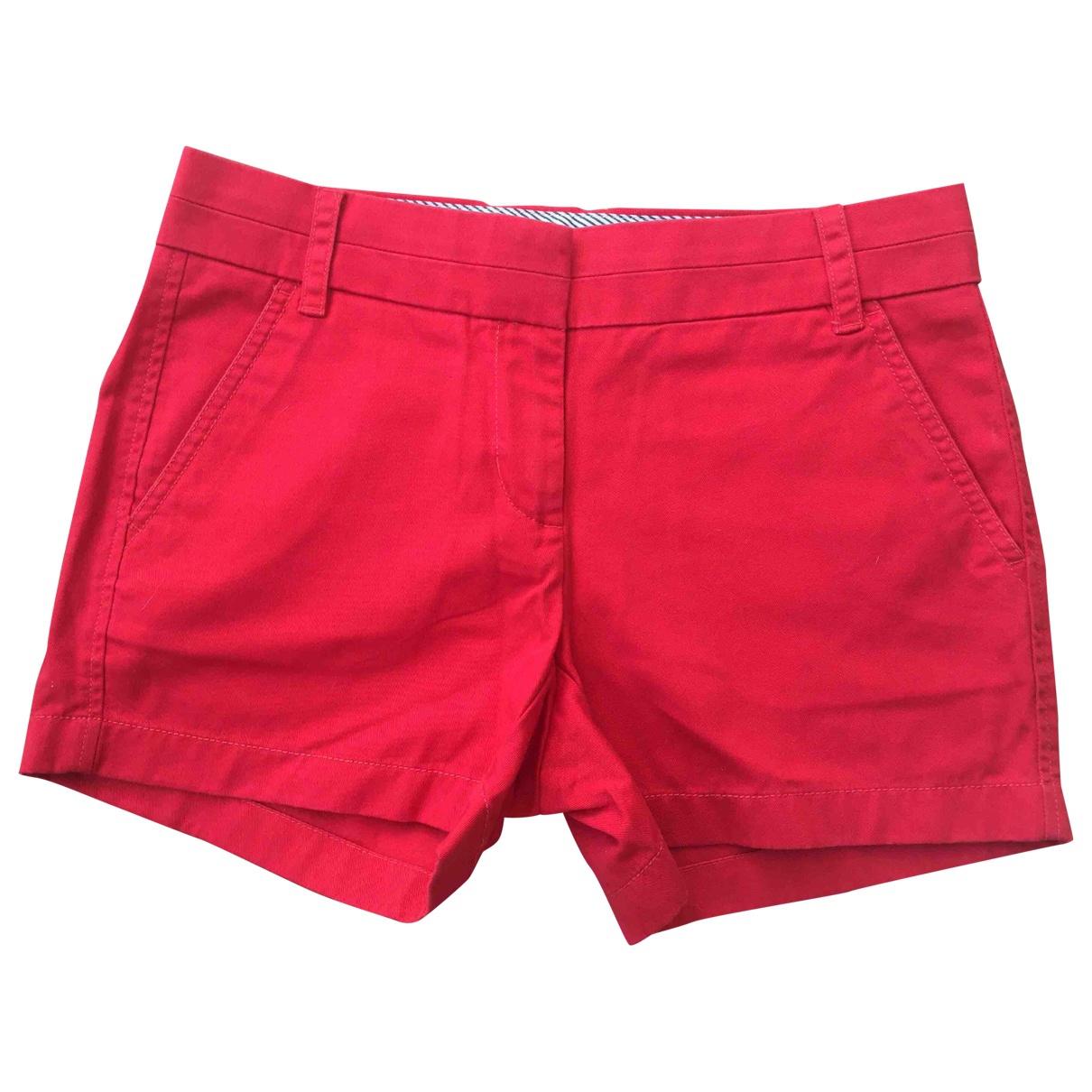 J.crew - Short   pour femme en coton - rouge