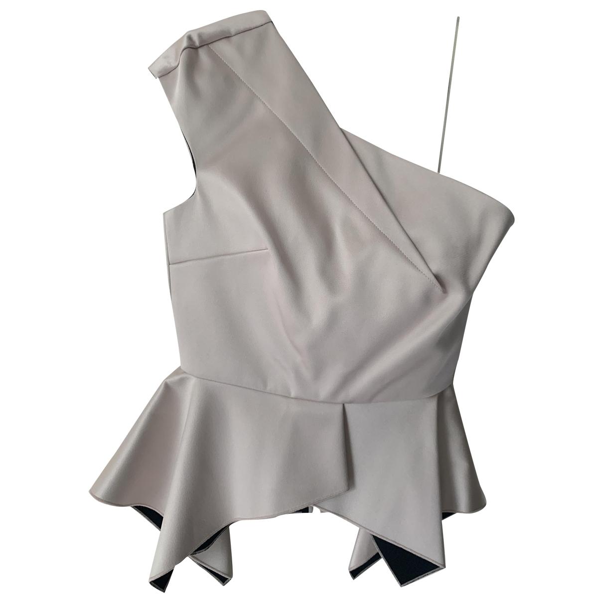 Roland Mouret \N Grey Silk  top for Women 12 UK