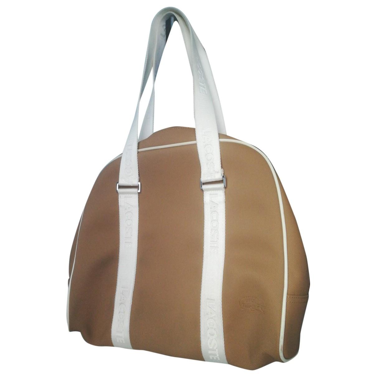 Lacoste \N Handtasche in  Beige Kunststoff