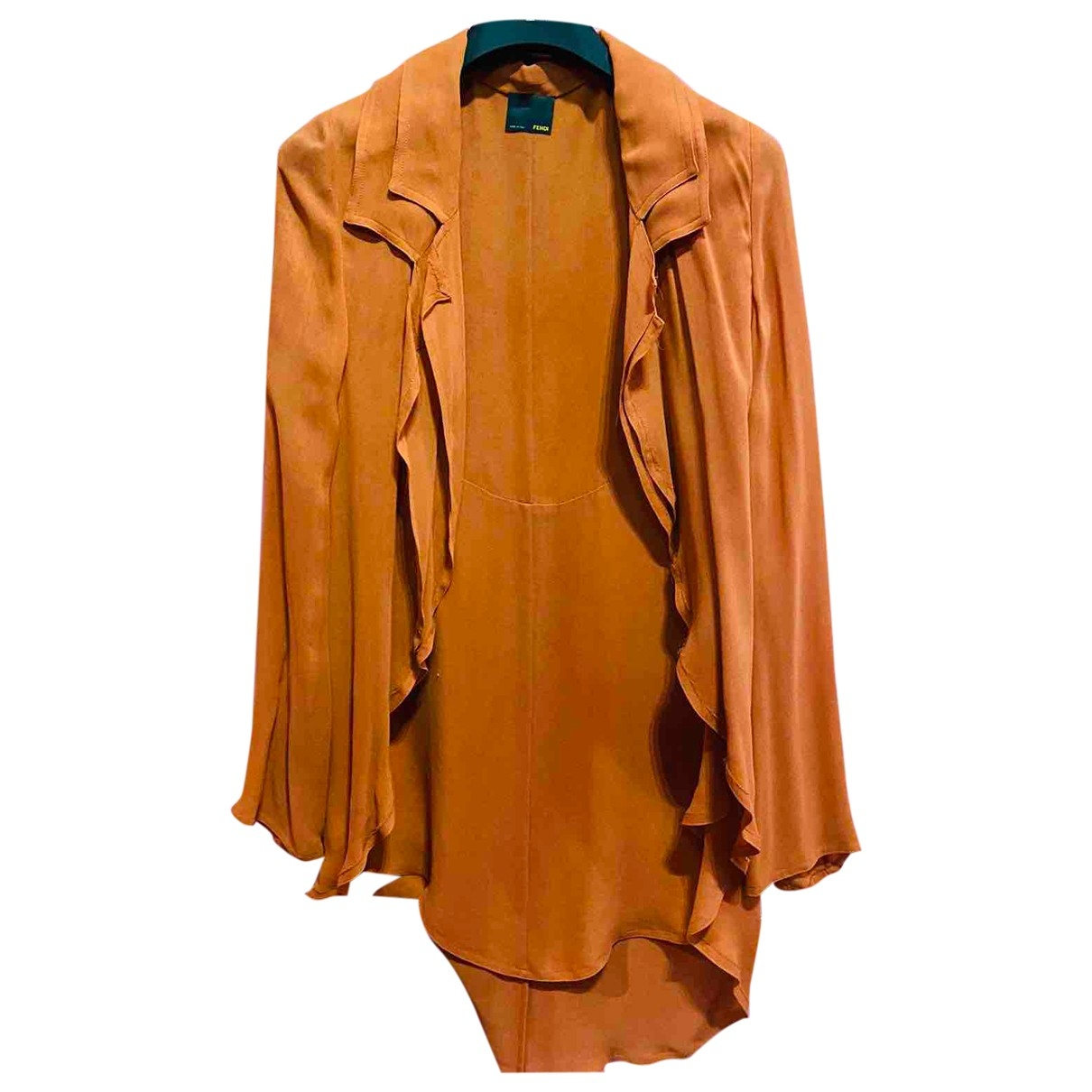 Fendi - Veste   pour femme en soie - orange