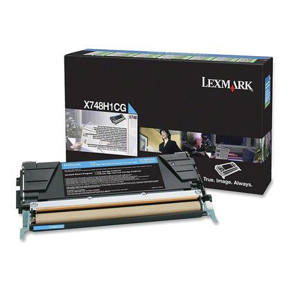 Lexmark X748H1CG cartouche de toner originale du programme retour cyan haute capacité