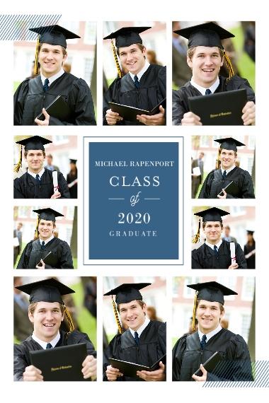 Graduation 24x36 Adhesive Poster, Home Décor -Classy Grid Graduation