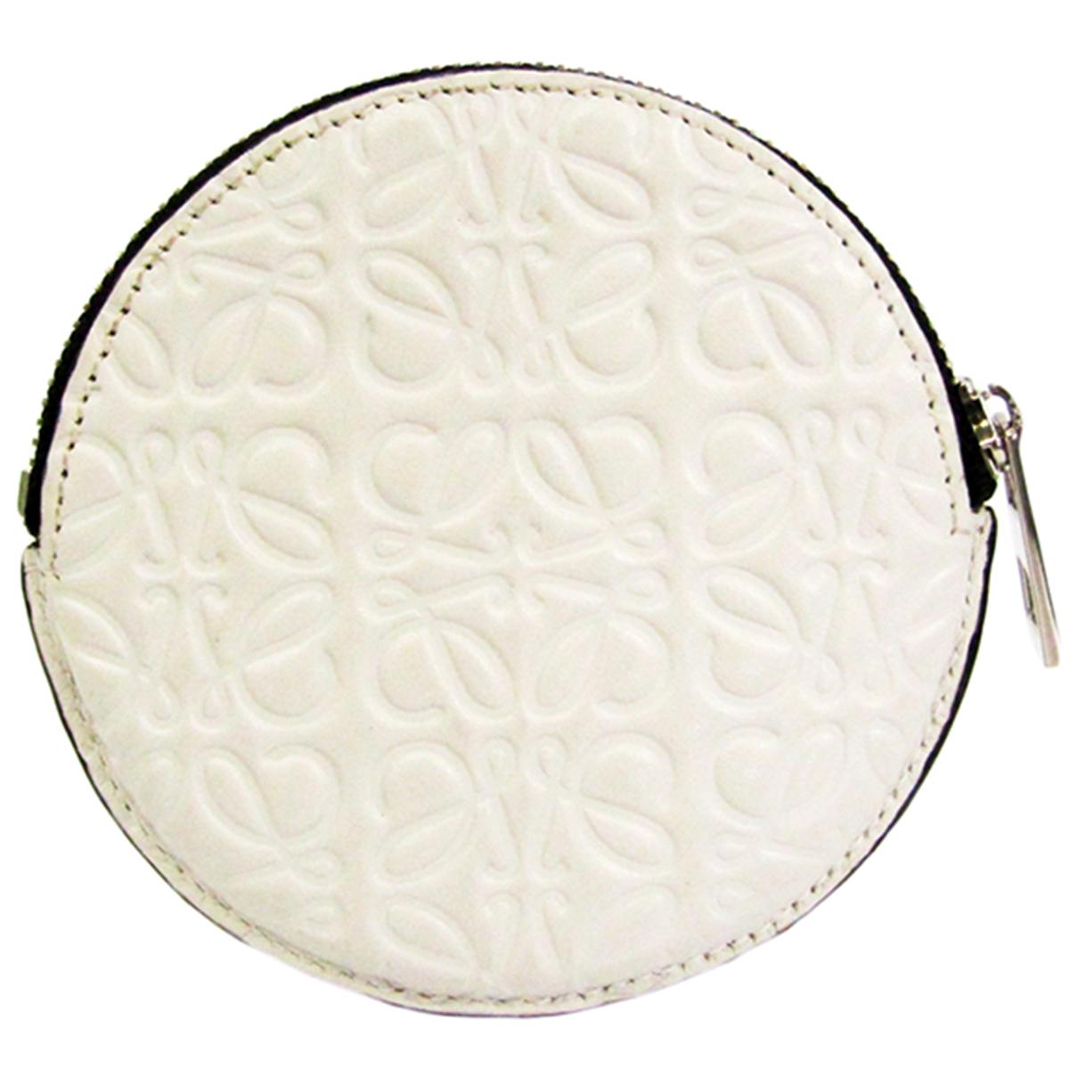 Loewe N White Leather wallet for Women N