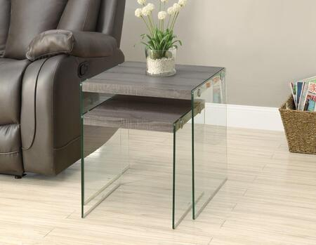 I 3053 Nesting Table - 2pcs Set / Dark Taupe / Tempered