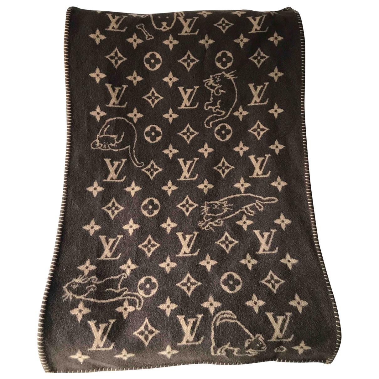 Louis Vuitton \N Heimtextilien in  Braun Kaschmir