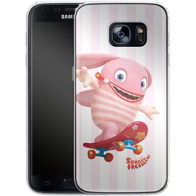 Samsung Galaxy S7 Silikon Handyhuelle - Sorgenfresser Pomm von Sorgenfresser