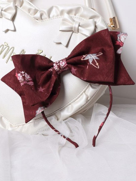 Milanoo Sweet Lolita Headband KC Showa Bunny Bows Printed Lolita Hair Accessories