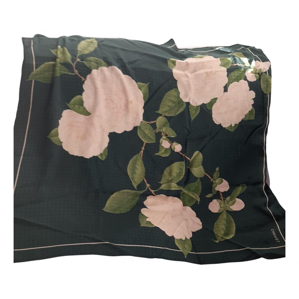 Chanel \N Green Silk Silk handkerchief for Women \N