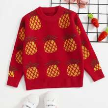 Pullover mit Ananas Muster