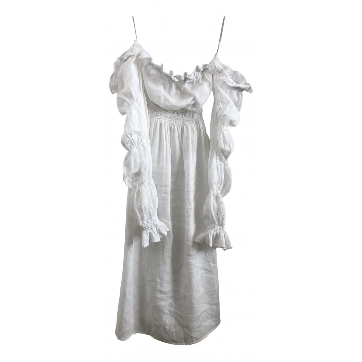 Sleeper - Robe   pour femme en lin - blanc