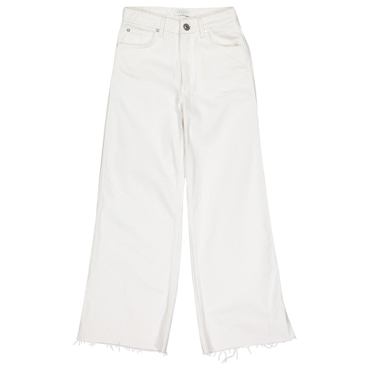 Sandro \N Jeans in  Weiss Baumwolle