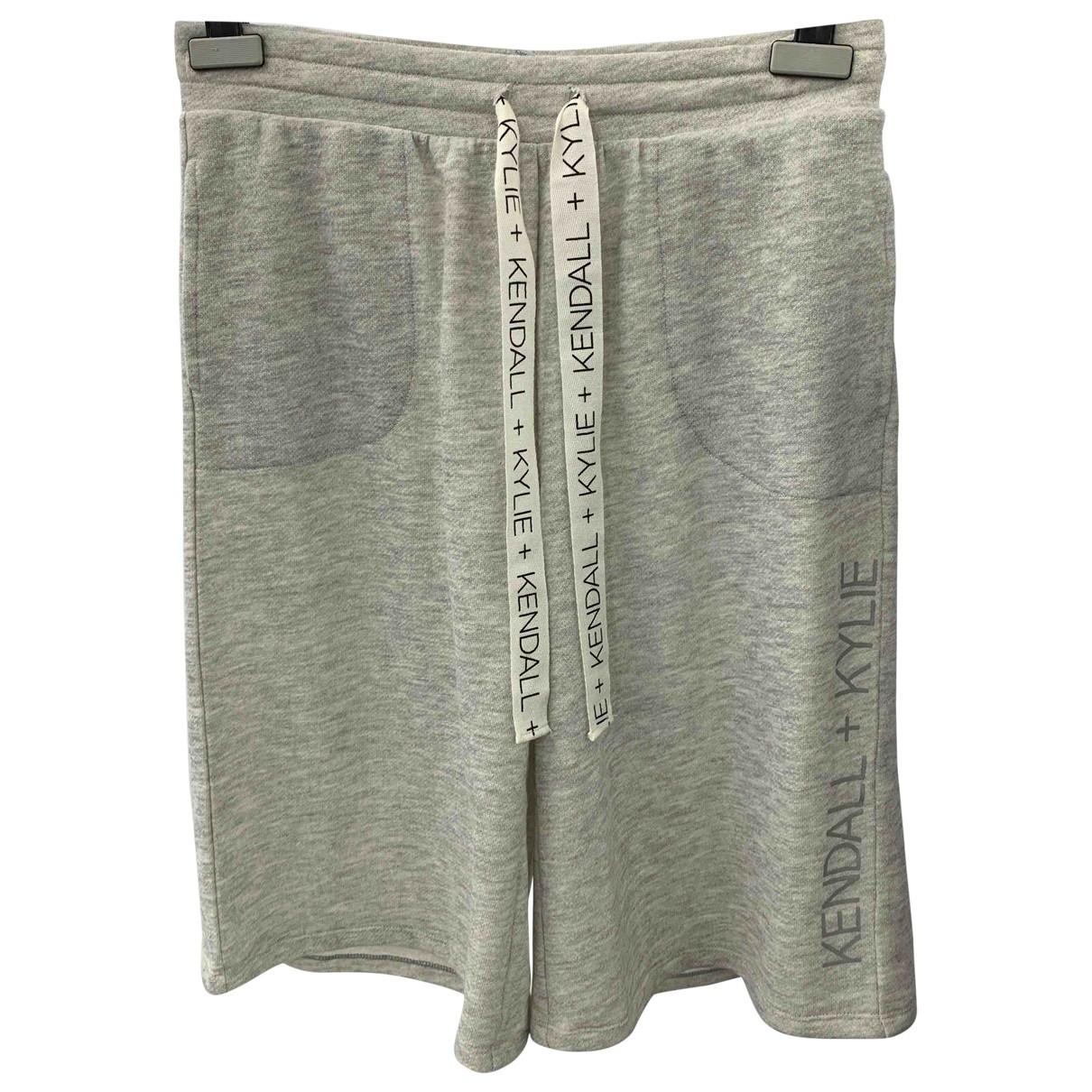 Kendall + Kylie - Short   pour femme en coton - gris