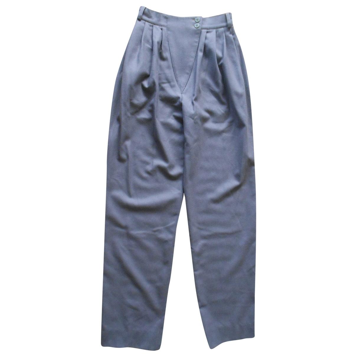 Jil Sander \N Grey Wool Trousers for Women 34 FR