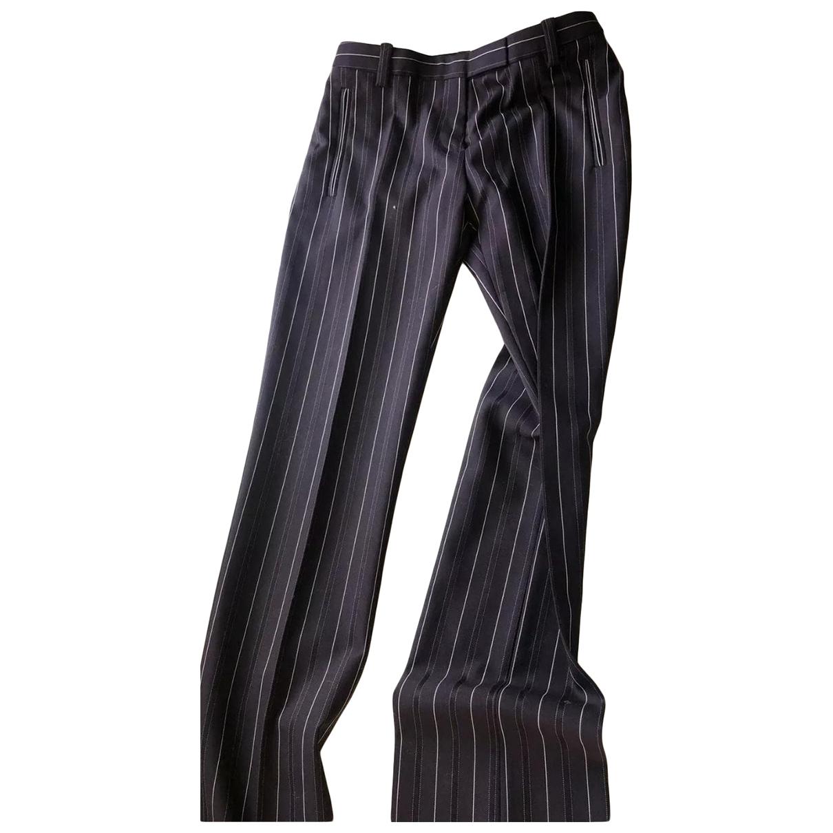 Versace N Blue Wool Trousers for Women 40 IT