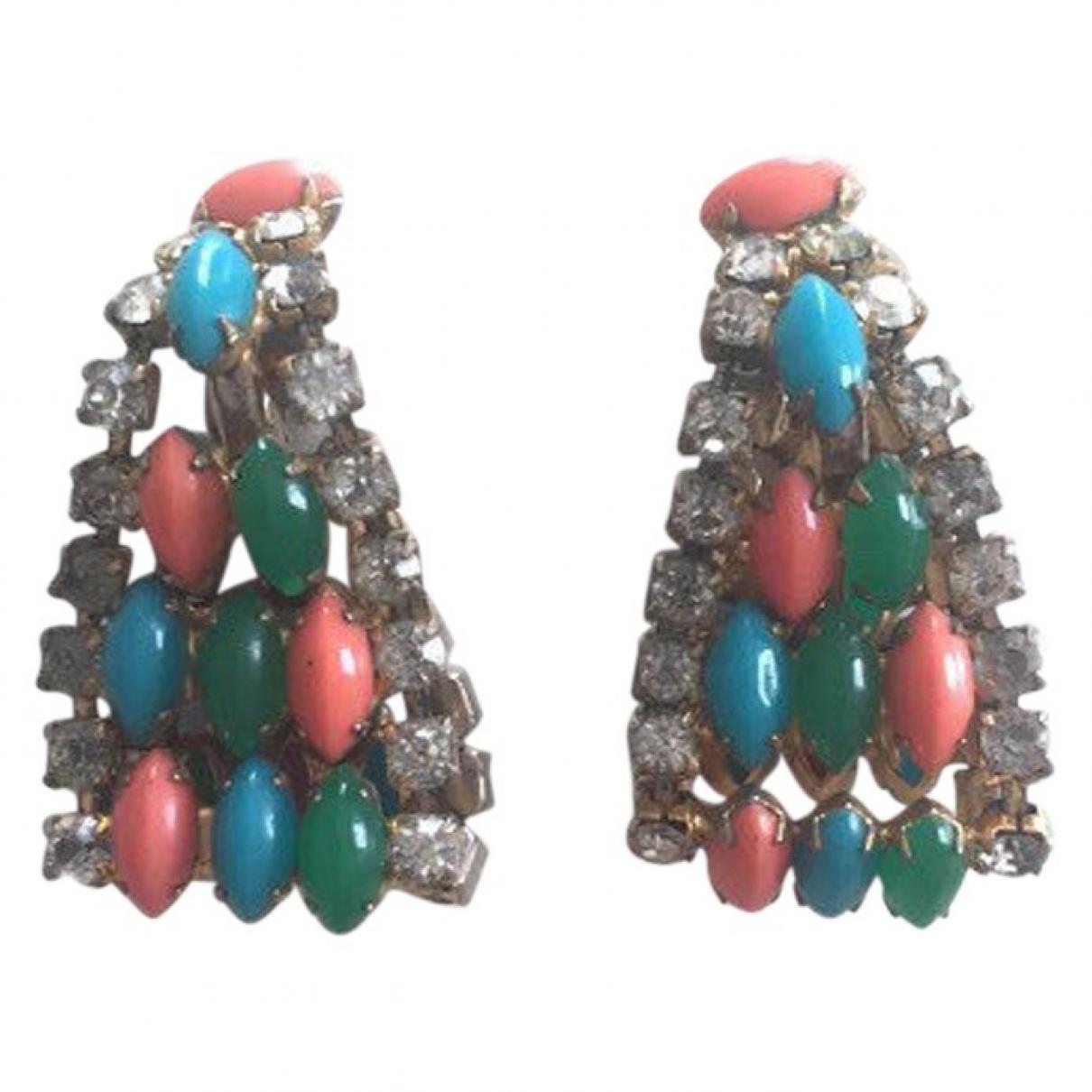 Kenneth Jay Lane \N Green Metal Earrings for Women \N