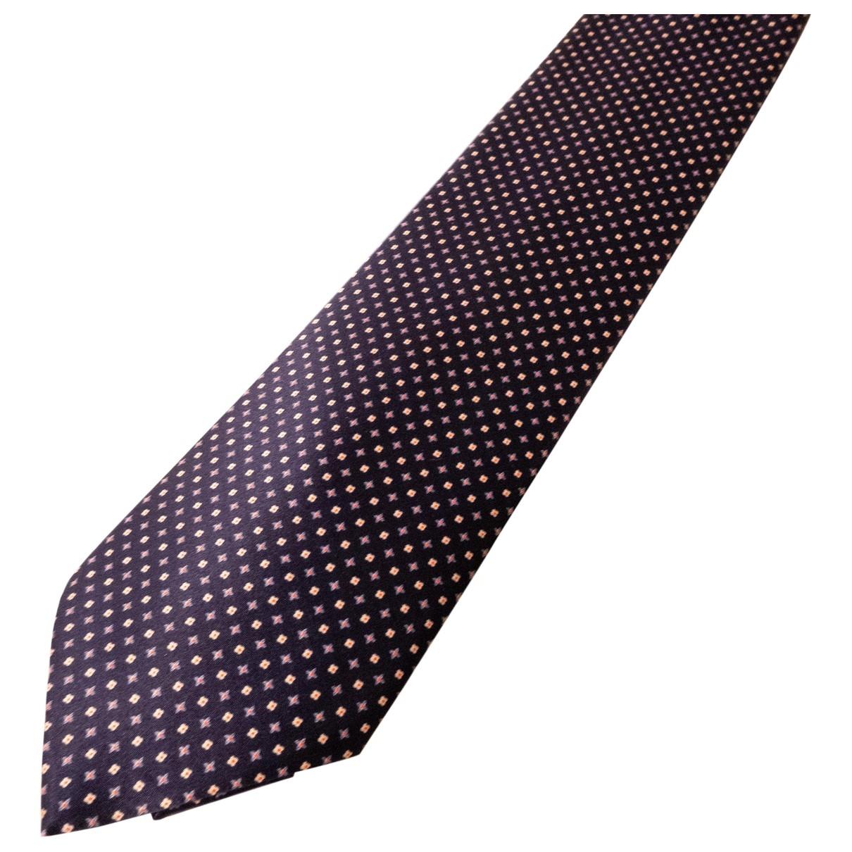 Stefano Ricci \N Krawatten in  Marine Seide