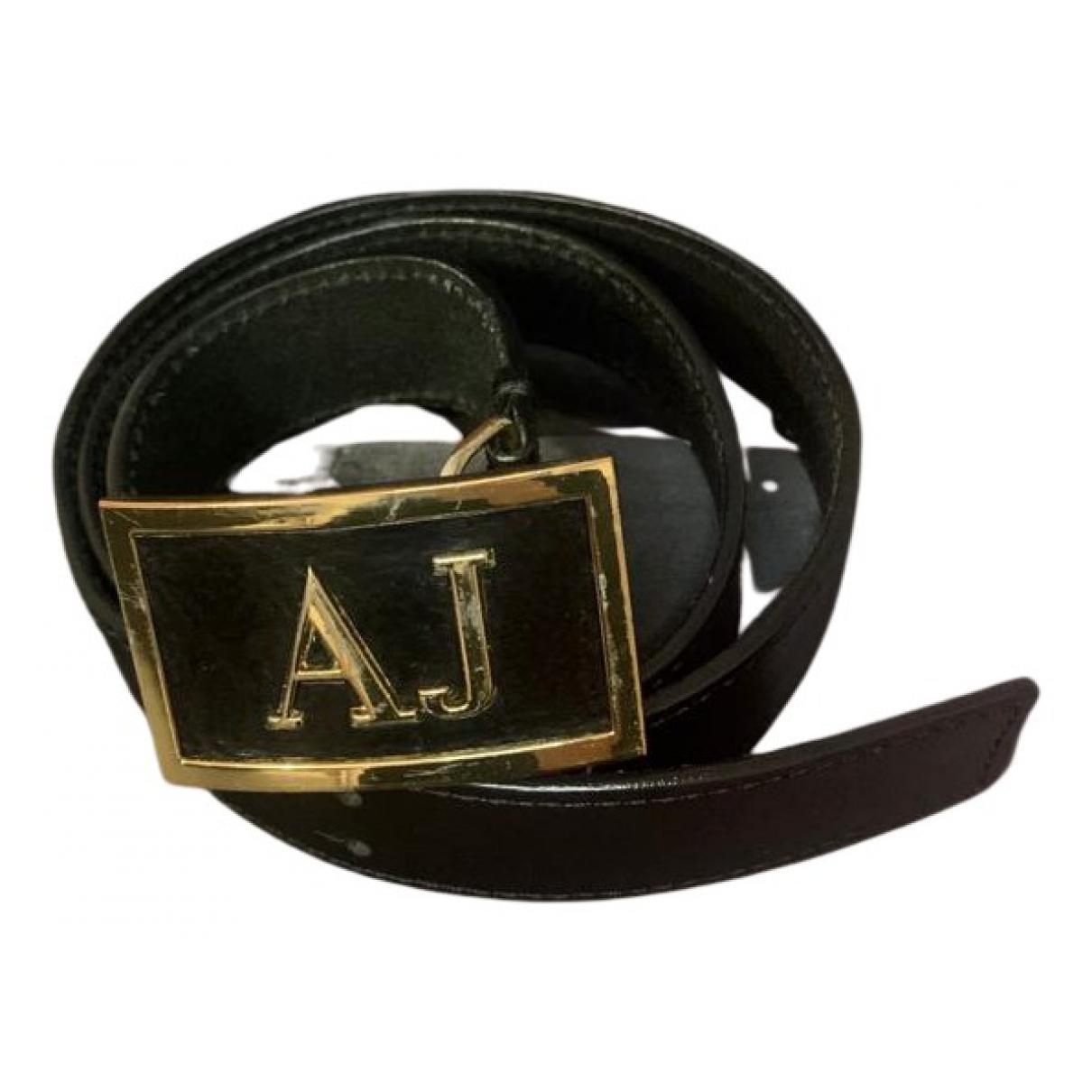 Armani Jean - Ceinture   pour femme en cuir - noir