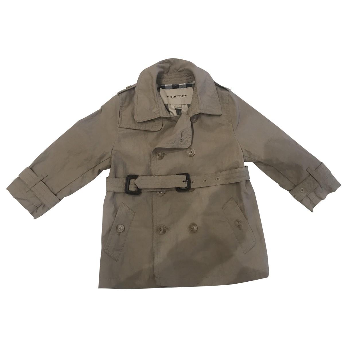 Burberry \N Beige Cotton jacket & coat for Kids 18 months - up to 81cm FR