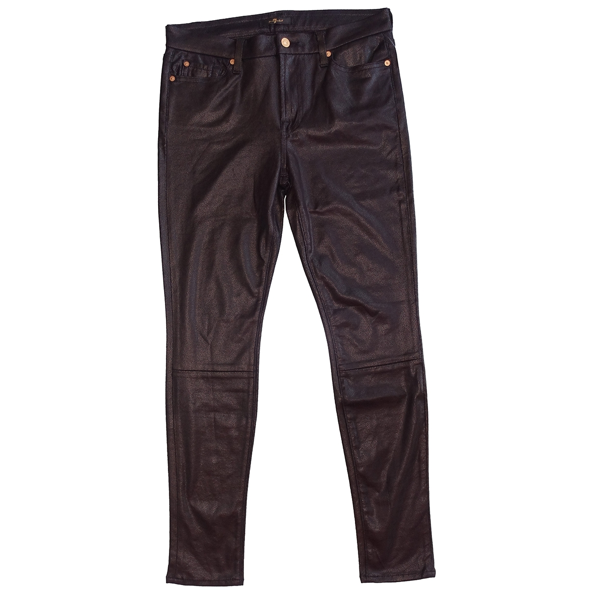 7 For All Mankind \N Black Jeans for Women 30 US