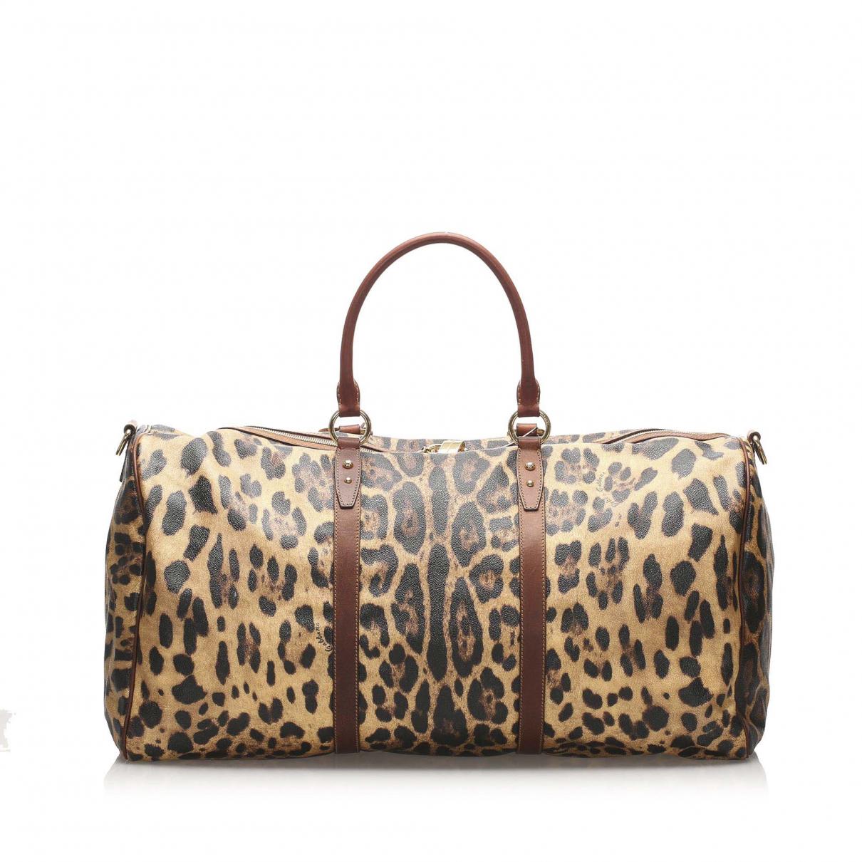 Dolce & Gabbana - Sac de voyage   pour femme en toile - marron