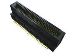 Samtec , MEC8-DV Vertical Female PCBEdge Connector, Edge Mount Mount, 20 Way, 2 Row, 0.8mm Pitch, 1.8A (104)