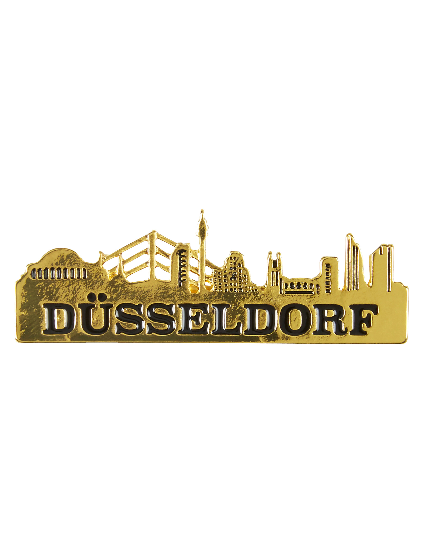 Kostuemzubehor Pin Duesseldorf Skyline Farbe: gold