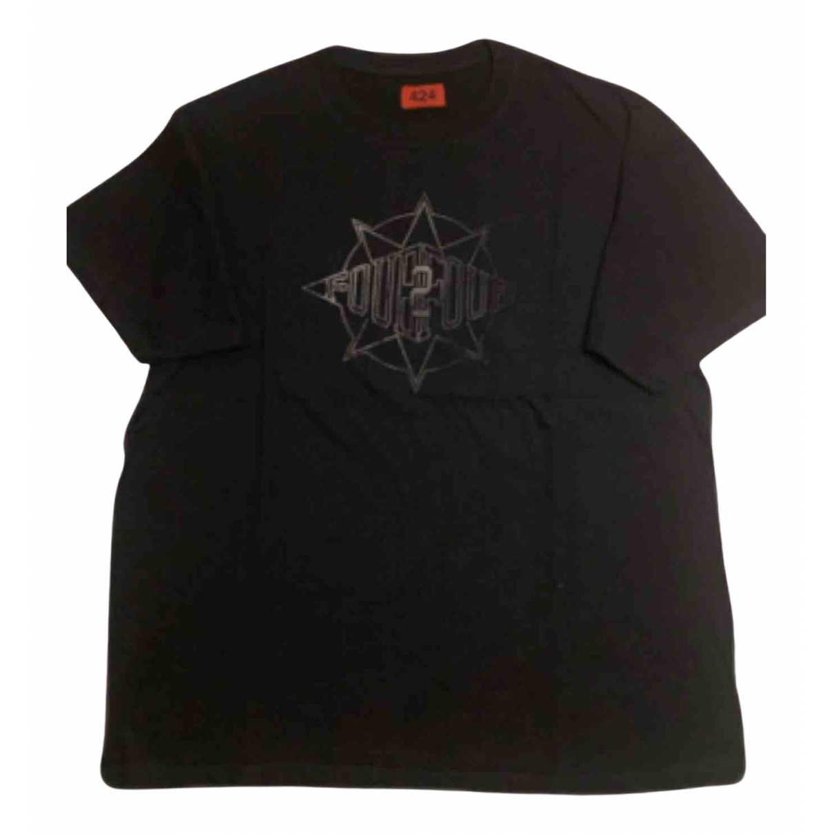 424 N Black Cotton T-shirts for Men L International