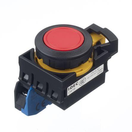 Idec ,  CW Non-illuminated Red Round Push Button, 22mm Momentary Screw