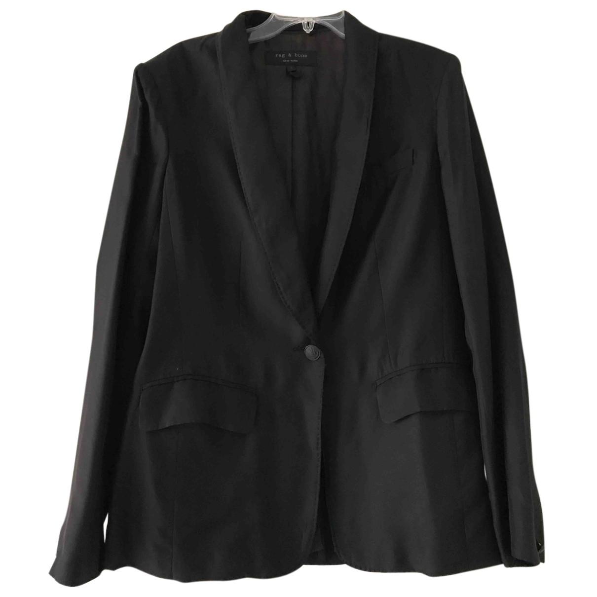 Rag & Bone N Black Silk jacket for Women 4 US