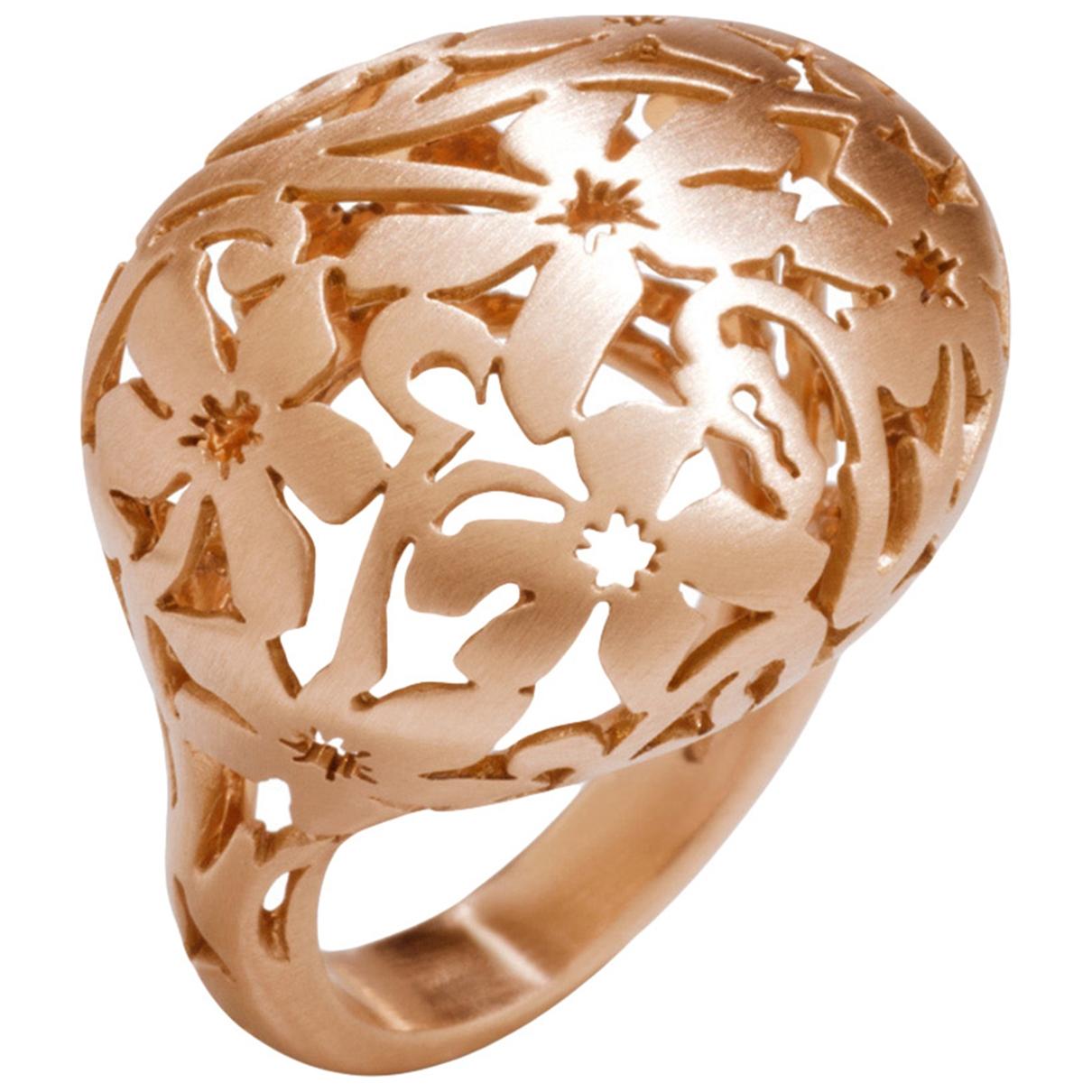 Pomellato - Bague Arabesque pour femme en or rose - dore