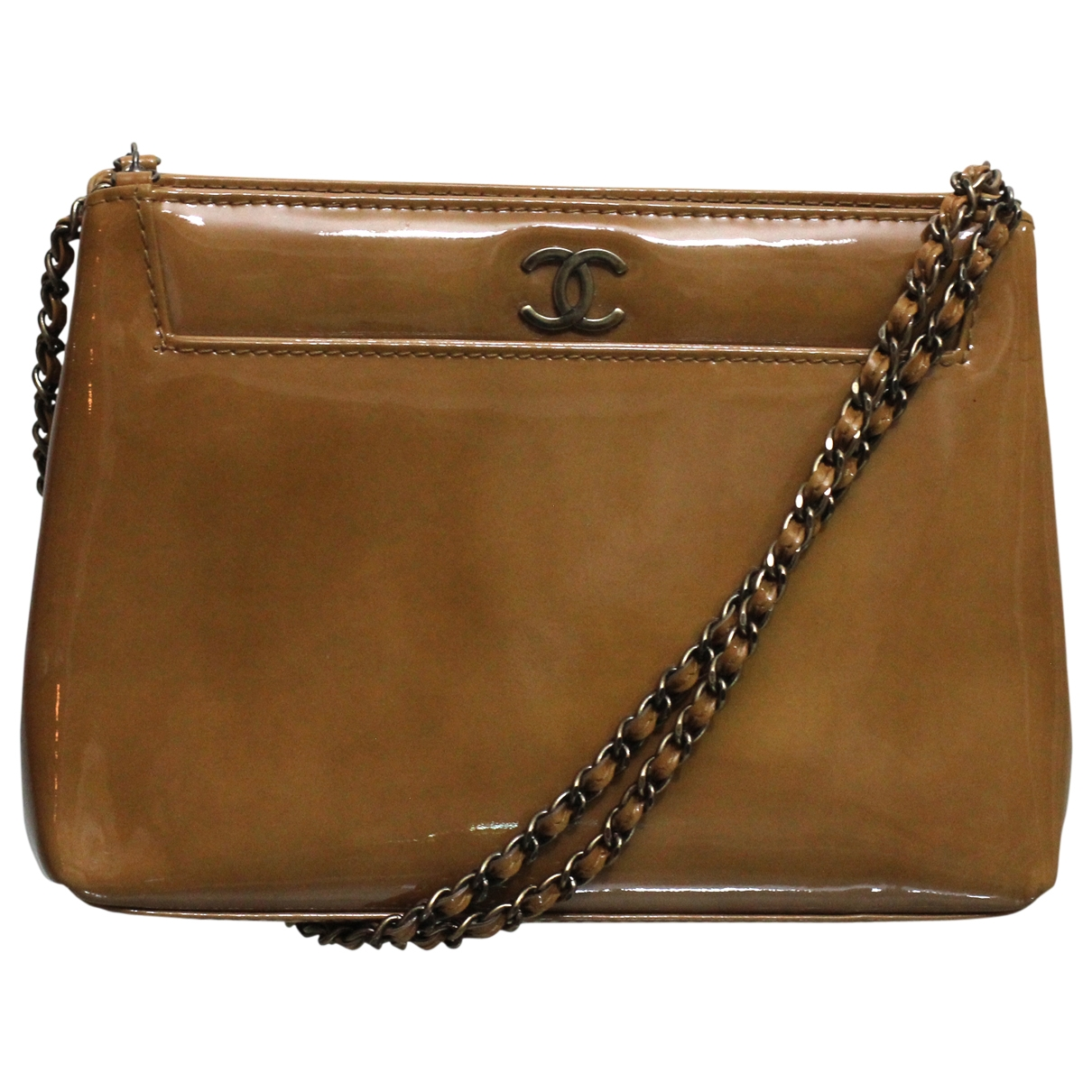 Chanel \N Beige Patent leather handbag for Women \N