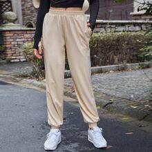 Pantalones deportivos de cintura elastica