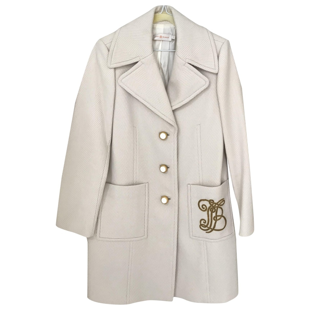 Tory Burch \N Beige Wool coat for Women 6 US