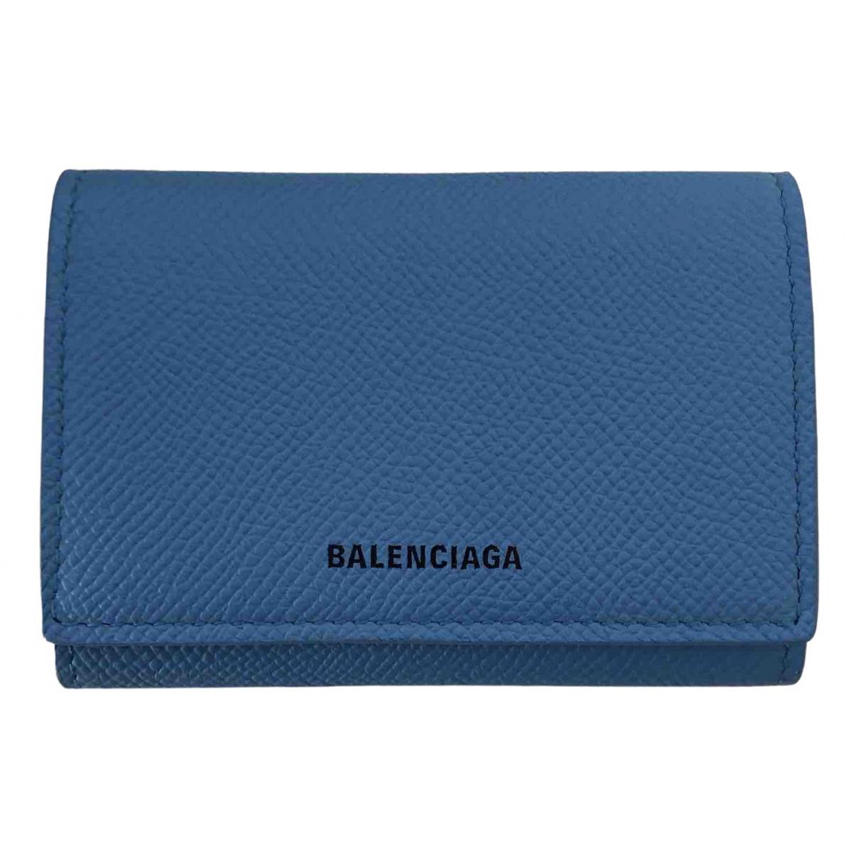 Balenciaga - Petite maroquinerie   pour femme en cuir - turquoise